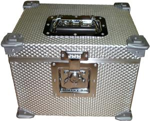 small flight case with silver corners